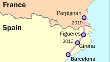 Odcinek Perpignan-Barcelona