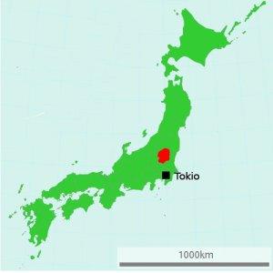 Prefektura Tochigi na mapie Japonii