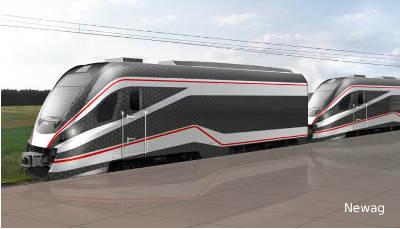 Hybrydowy pociąg NEWAGu