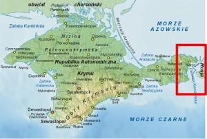 półwysep krymski i cieśnina kerczeńska