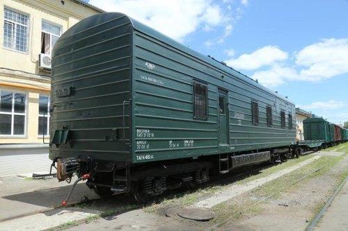 Wagon armii ukraińskiej przerobiony z chłodni