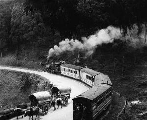 Pociąd na linii Darjeeling, około 1930 r.