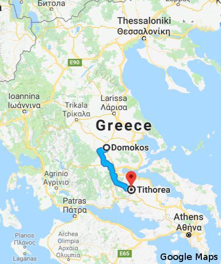 mapa odcinka z najdłuższym tunelem kolejowym na Bałkanach