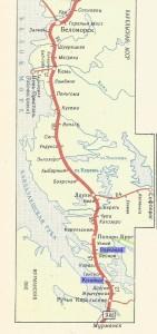 mapa odcinka kolei październikowej