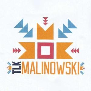 """Logo promocyjnej kawy rozdawanej w pociagu """"Malinowski"""""""