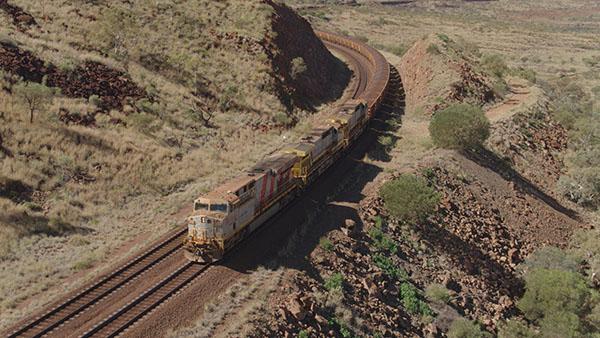 bezzałogowy pociąg Rio Tinto