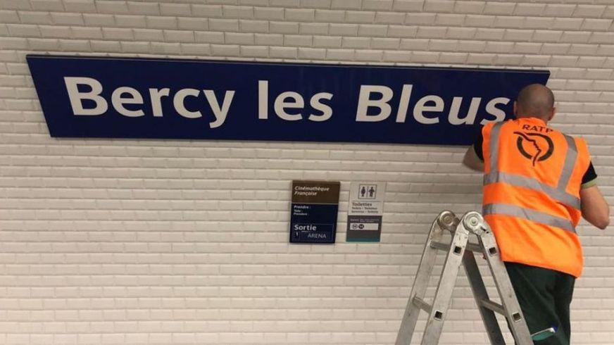 Stacja Bercy przemianowana na Bercy les Bleus