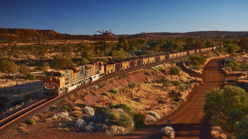 pociąg z rudą australijskiego koncernu BHP
