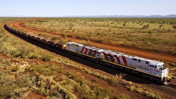 bezzałogowy pociąg Rio Tinto w Pilbara