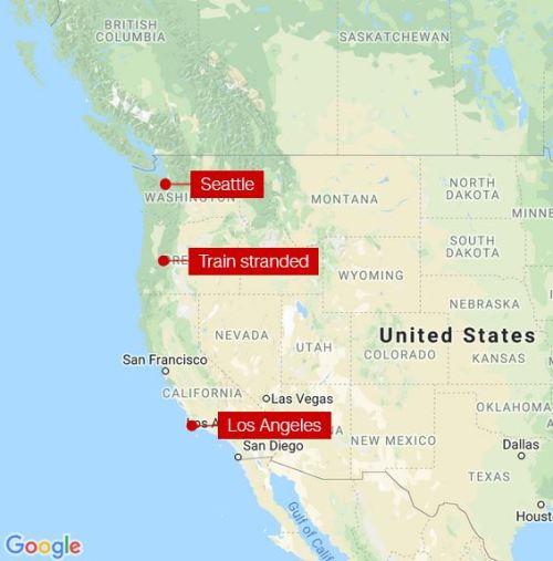 trasa pociągu Seattle-Los Angeles