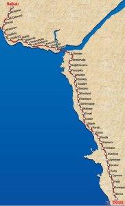 Mapa odcinka Gebze-Istambuł-Halkali