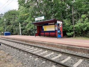 przystanek Polesie na linii WKD miedzy Milanówkiem a Podkową Leśną