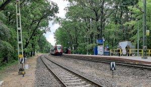 Podkowa Leśna Zachodnia, peron do Grodziska