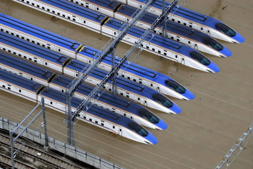 pociagi shinkansen po tajfunie Hagibis