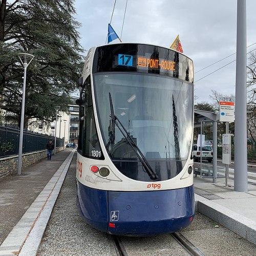 Tramwaj linii 17 w Annemasse