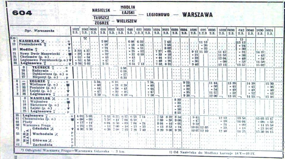 rozkład jazdy, lato 1939