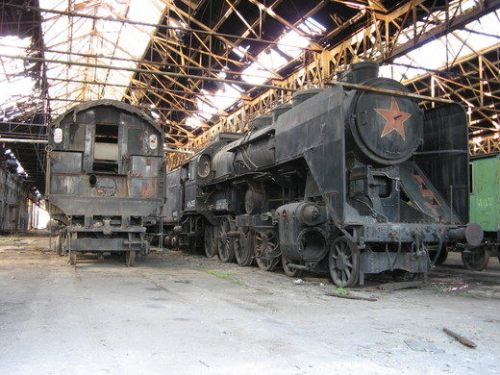 cmentarzysko pociągów Istvantelek
