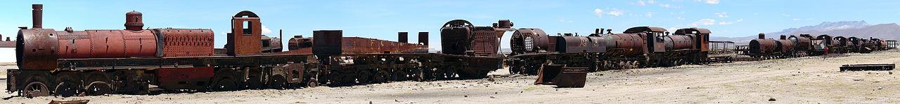 centarzysko pociągów w Uyuni, Boliwia