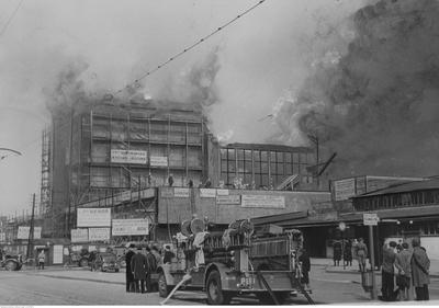 gaszenie pożaru Dworca Głównego, czerwiec 1939