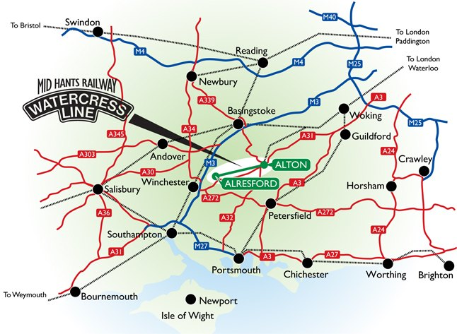 Mapa Watercress Line