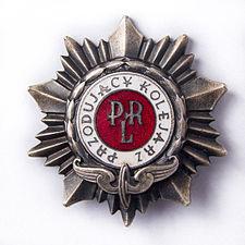 """Odznaka """"Przodujący Kolejarz"""" wzór 1954"""